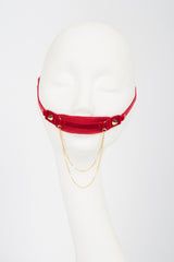 Red & Gold Tulle Mouth Gag