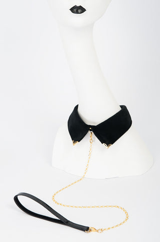Noir Velvet Collar at Fräulein Kink