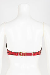 Luxury Patent Leather Bra with Crystal Rivets Buy Online at Fraulein Kink