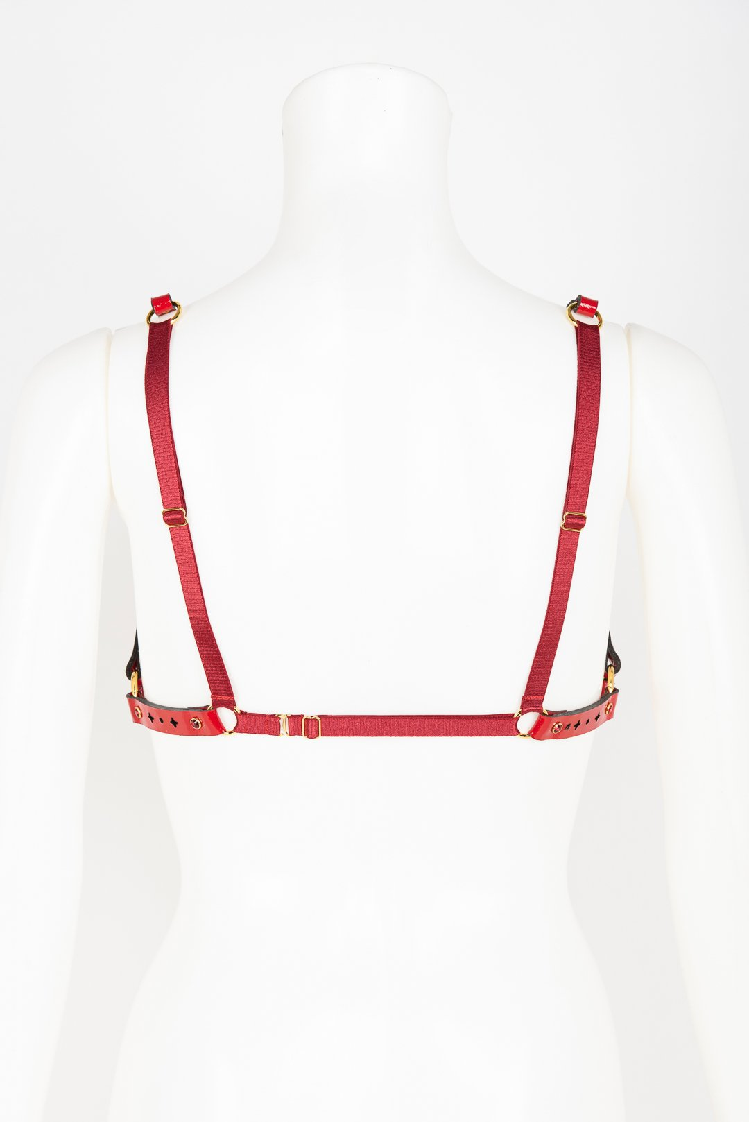 Luxury Patent Leather Harness Bra with Crystal Rivets Buy Online at Fraulein Kink