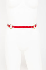 Patent Leather Garter Belt with Crystal Rivets Buy Online at Fraulein Kink