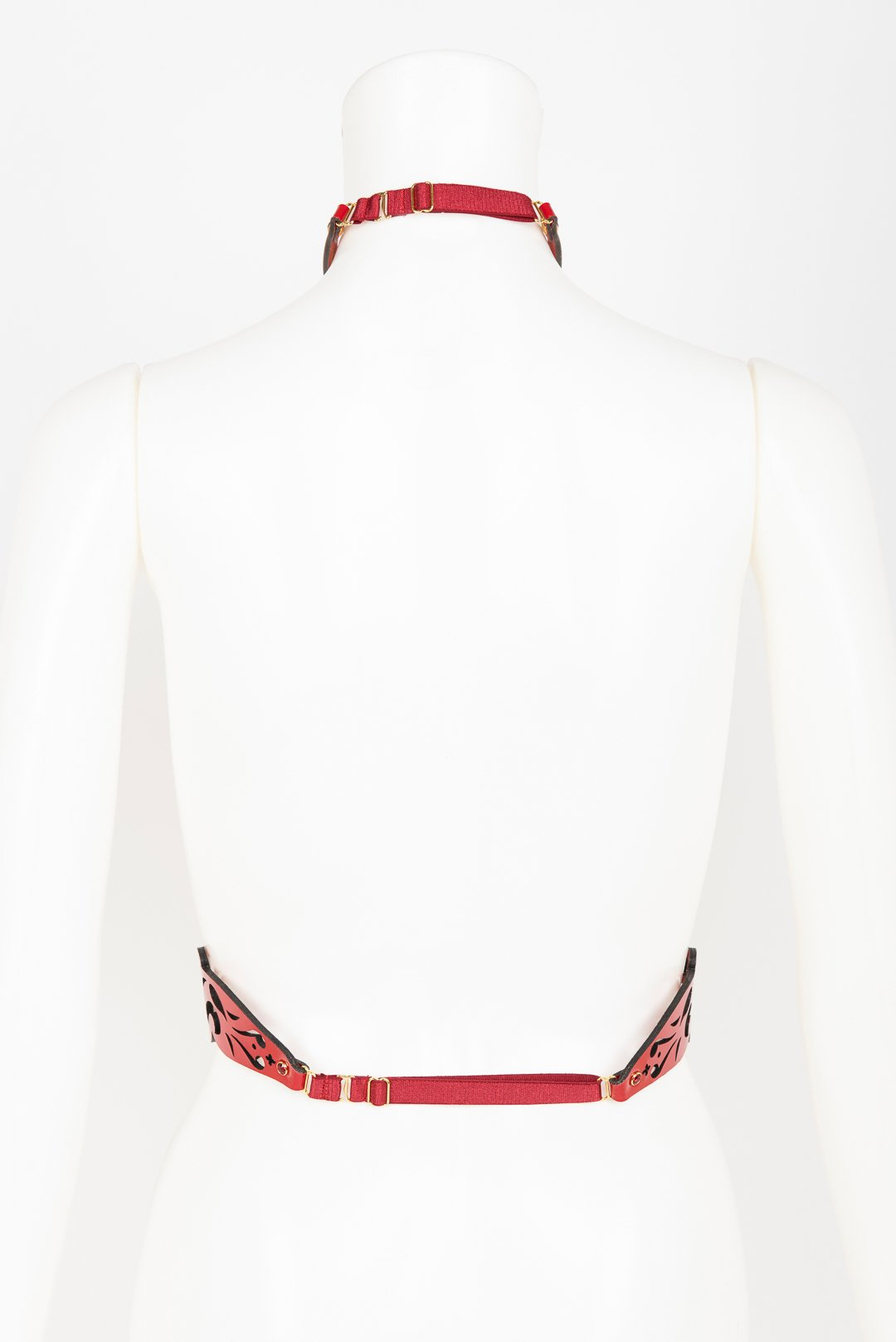 Patent Leather Harness with Crystal Rivets Buy Online at Fraulein Kink