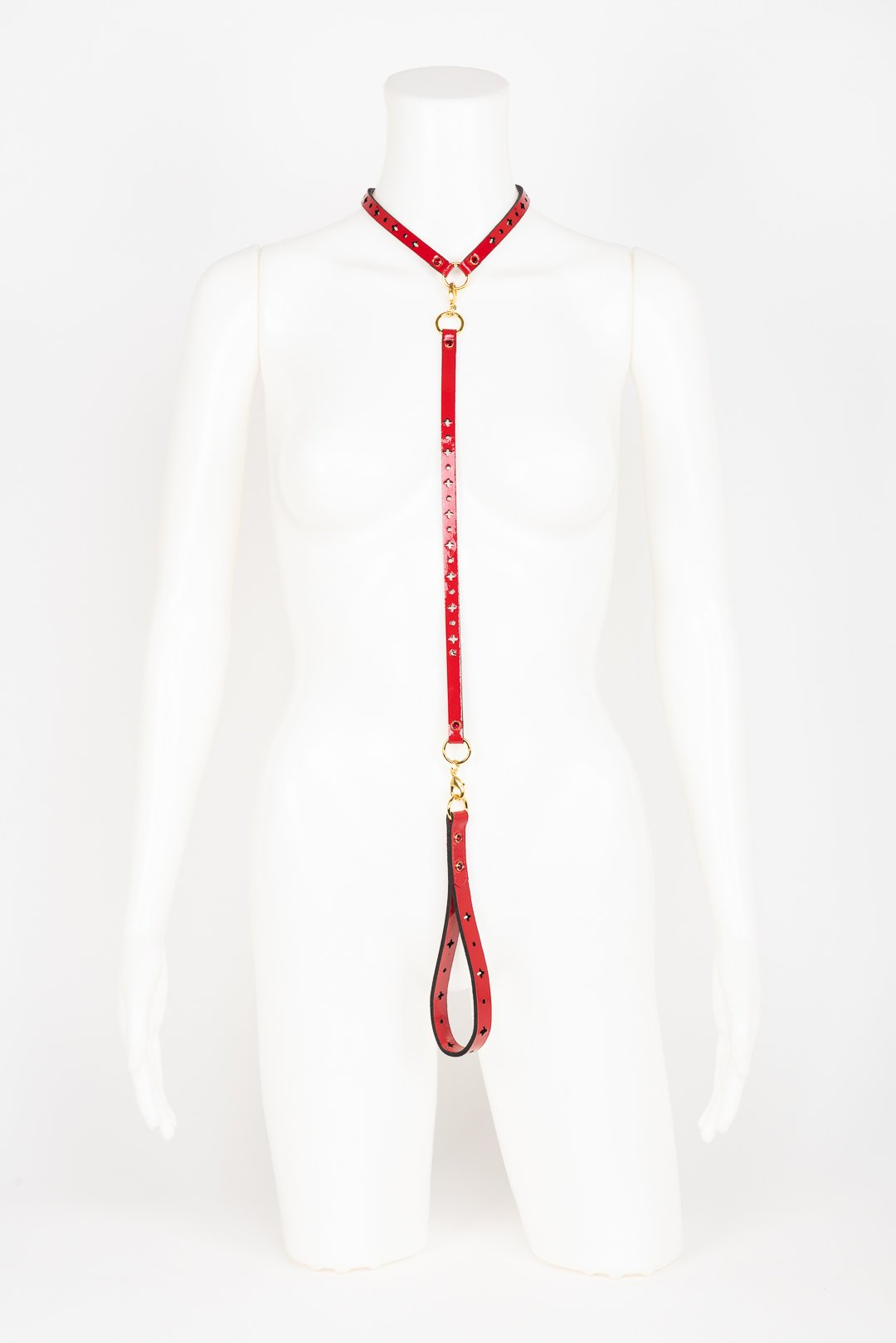 Luxury Patent Leather Lead T Strap buy online at Fraulein Kink
