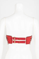 Luxury Patent Leather Harness with Crystal Rivets Buy Online at Fraulein Kink