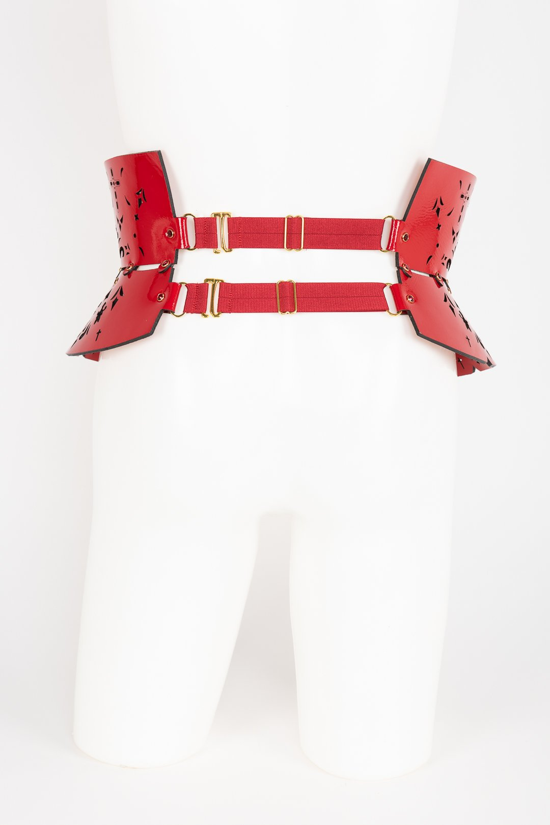 Luxury Patent Leather Belt with Crystal Rivets Buy Online at Fraulein Kink