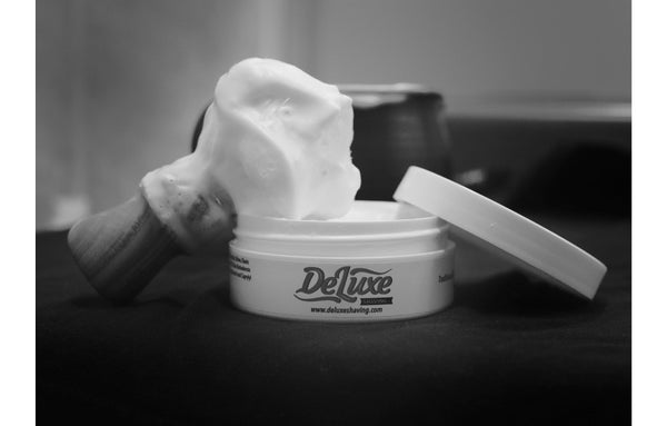 "DeLuxe Shaving Cream ""Woodbridge"" Sample"