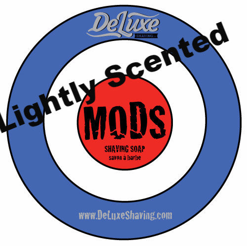 "DeLuxe Shaving Soap ""Mods"" Lightly Scented"