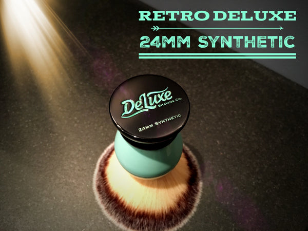 Blemished -  Retro DeLuxe 24mm Synthetic Shaving Brush