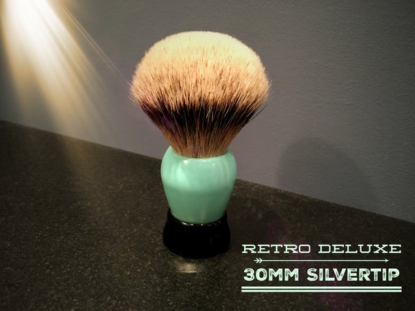 Blemished - Retro DeLuxe 30mm Silvertip Shaving Brush