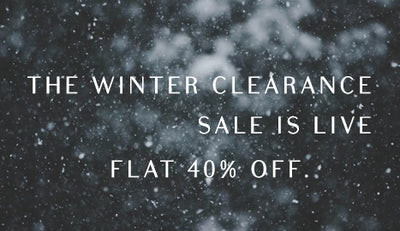 FLAT 40% OFF ON WINTER ITEMS.