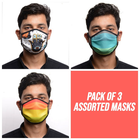 RDKLU 3 LAYERED WASHABLE MASK ASSORTED PACK#2