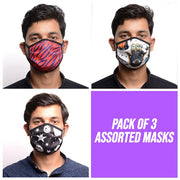 RDKLU 3 LAYERED WASHABLE MASK ASSORTED PACK#3