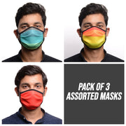 RDKLU 3 LAYERED WASHABLE MASK ASSORTED PACK#4