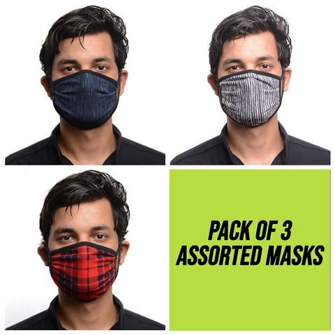 RDKLU 3 LAYERED WASHABLE MASK ASSORTED PACK#5