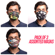 RDKLU 3 LAYERED WASHABLE MASK ASSORTED PACK#1