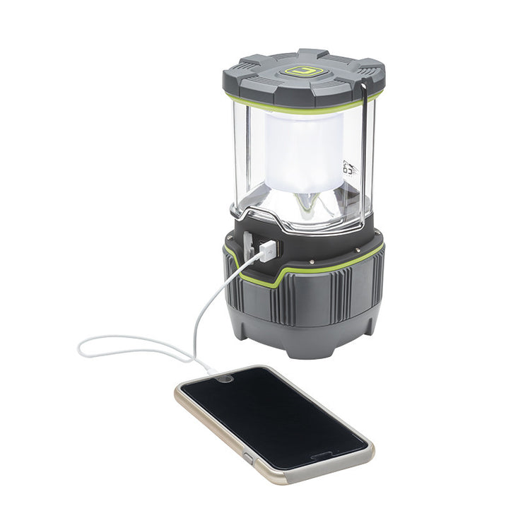 Core Equipment 1000 Lumen Rechargeable Lantern Charging smart phone from USB charging port