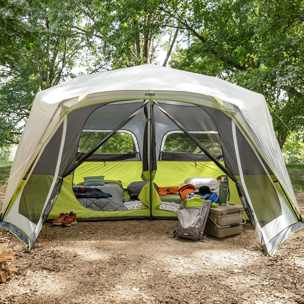 ... 10 Person Instant Cabin Tent with Screen Room ... & 10 Person Instant Cabin Tent with Screen Room | Core Equipment