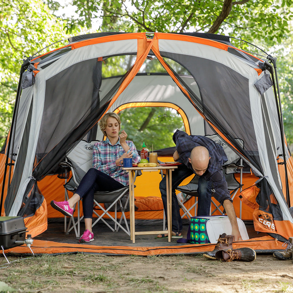 ... 11 Person Cabin Tent with Screen Room 17u0027 x ... & 11 Person Cabin Tent with Screen Room | Core Equipment
