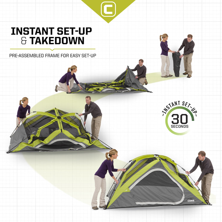Core Equipment 3 Person Instant Dome Tent Set Up