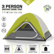 Core Equipment 3 Person Instant Dome Tent Tech Spec