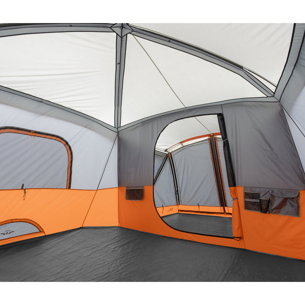 Core Equipment 11 Person Cabin Tent with Screen Room Interior