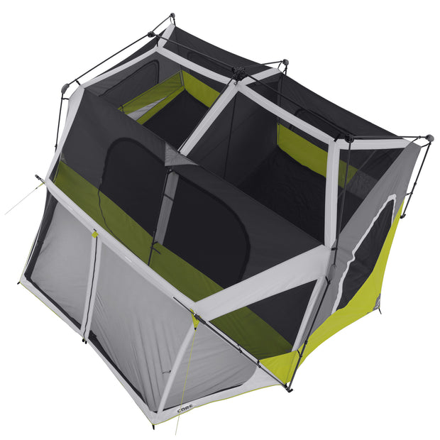 Core Equipment 10 Person Instant Cabin Tent with Screen Room Arial View