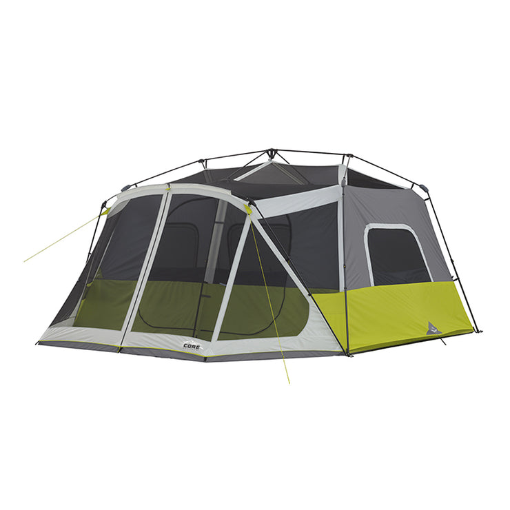 10 Person Instant Cabin Tent With Screen Room Core Equipment