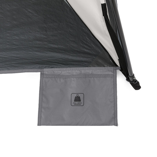 Core Equipment 8x8 Instant Sport Shade Sand Pocket to fill with weight to hold down shelter when staking out is not an option