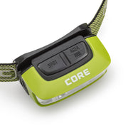 Core Equipment 100 Lumen Sport Headlamp Buttons