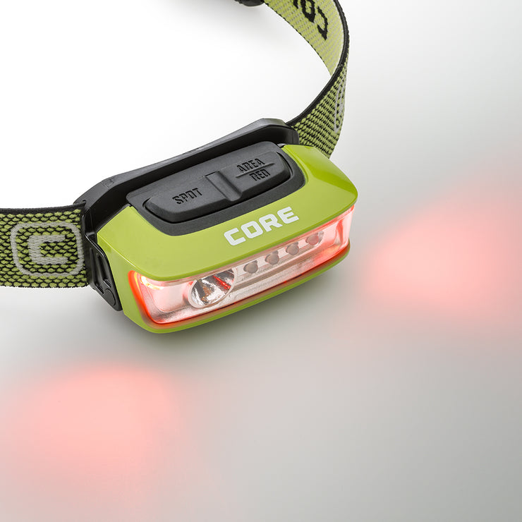 Core Equipment 100 Lumen Sport Headlamp Flashing Red Mode