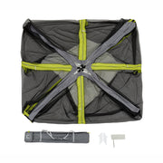 Core Equipment 10x10 Screen House what's included in the bag: screen house, carry bag, stakes