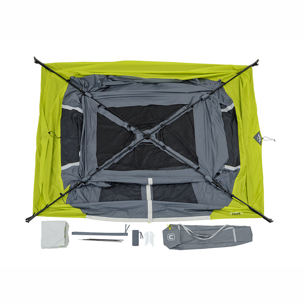 Core Equipment 6 Person Instant Cabin Tent with Awning 11' x 9'