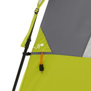 Image of electrical cord port with extension cord coming through from inside of the tent to outside