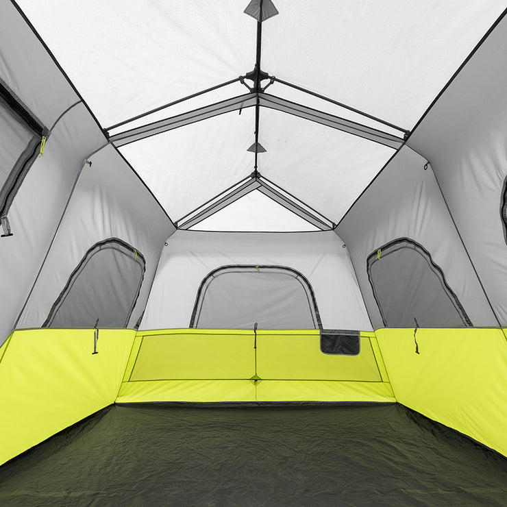 Image of interior tent cabin, gear pockets, mesh windows, tub floors, large vents