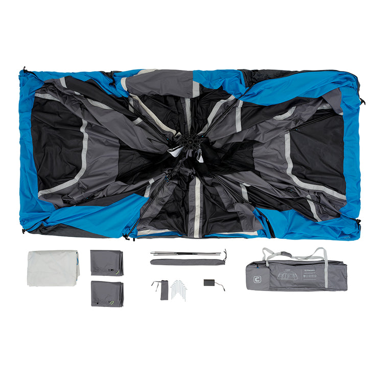 12 Person Lighted Instant Cabin Tent Core Equipment