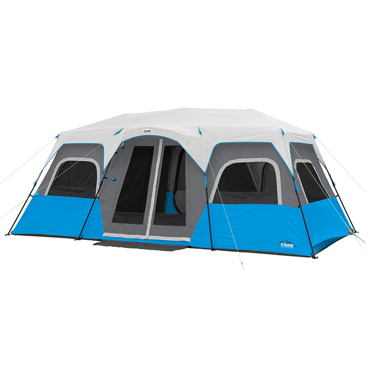 12 Person Instant Lightet Cabin tent hero image with rainfly on