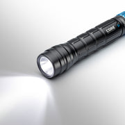 1000 Lumen Rechargeable flashlight on high mode