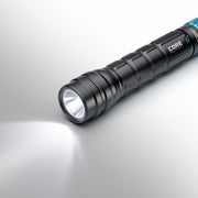 1000 Lumen Rechargeable flashlight on low mode
