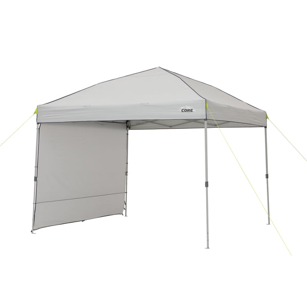 Front angle image of 10 x 10 Instant Canopy with Sun wall