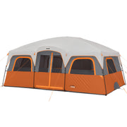 12 Person Extra Large Straight Wall Tent with rainfly on