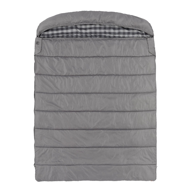 Queen size cool climate sleeping bag fully zipped