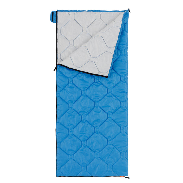 Hero image of blue cool climate sleeping bag