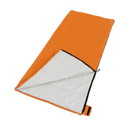 Image of alternadown sleeping bag laying down with zipper partially unzipped