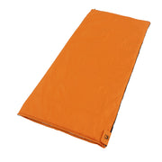 Image of alternadown sleeping bag laying down fully zipped