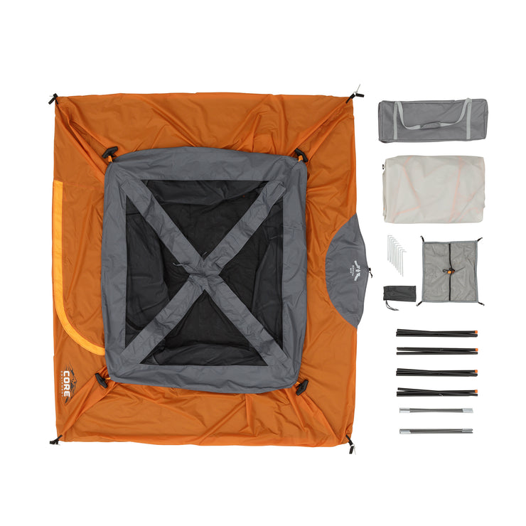 What is included in the bag - tent, rainfly, steaks, gear loft, carry bag