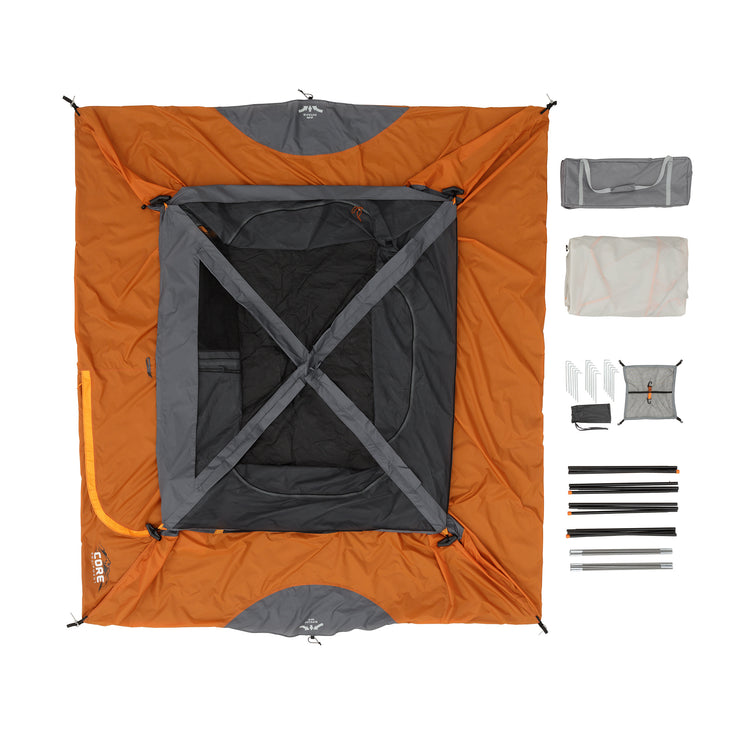 What's included in the bag: tent, rainfly, carry bag, tent stakes, gear loft, tent poles