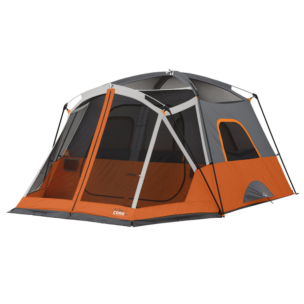 Tent hero image with rainfly off exposing fill mesh ceiling