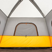 Interior image of straight wall tent