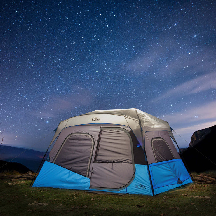 6 Person Lighted Instant Cabin Tent