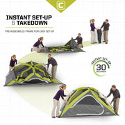 Core Equipment 4 Person Dome Tent Set Up